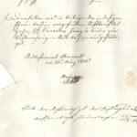 """Das Stadtpfarramt trägt dem """"Kommunal-Verwalter"""" auf, einen Stiftbrief aus dem Pfarrarchiv in das Stadtarchiv zu überbringen. Bruneck, 21. März 1836. StABc V/26, Pfarrkirchenfond 1836."""