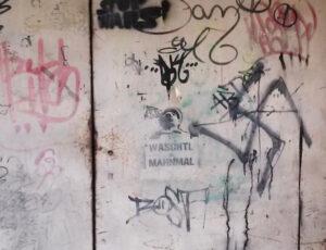 Alpinidenkmal Graffito