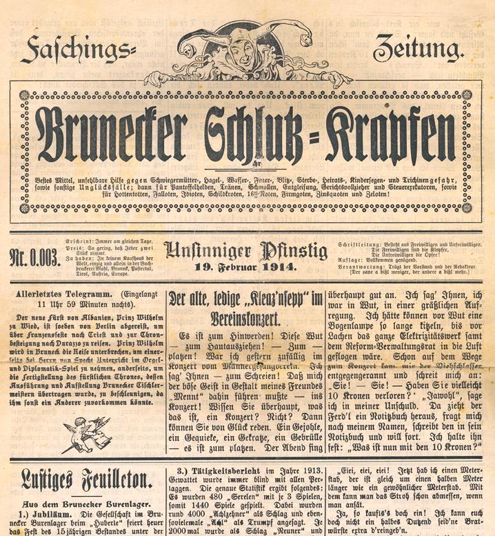 Fasching_1914_Brunecker_Schlutzkrapfen_titel